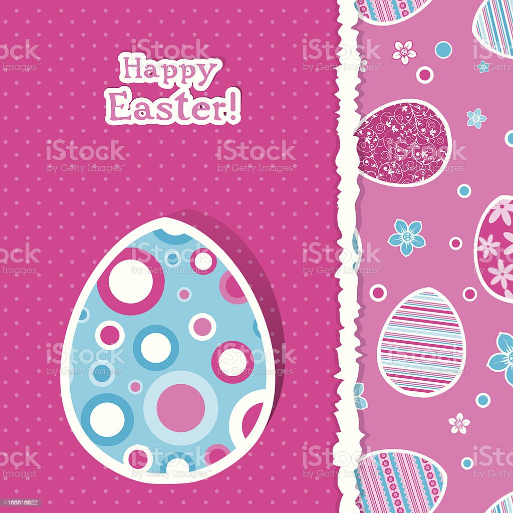 Template Easter greeting card royalty-free stock vector art
