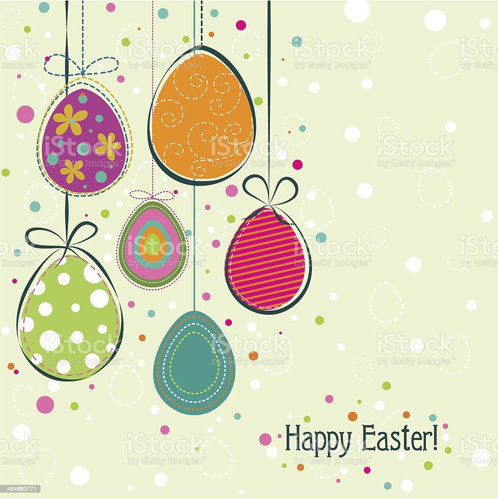 Template Easter greeting card vector art illustration
