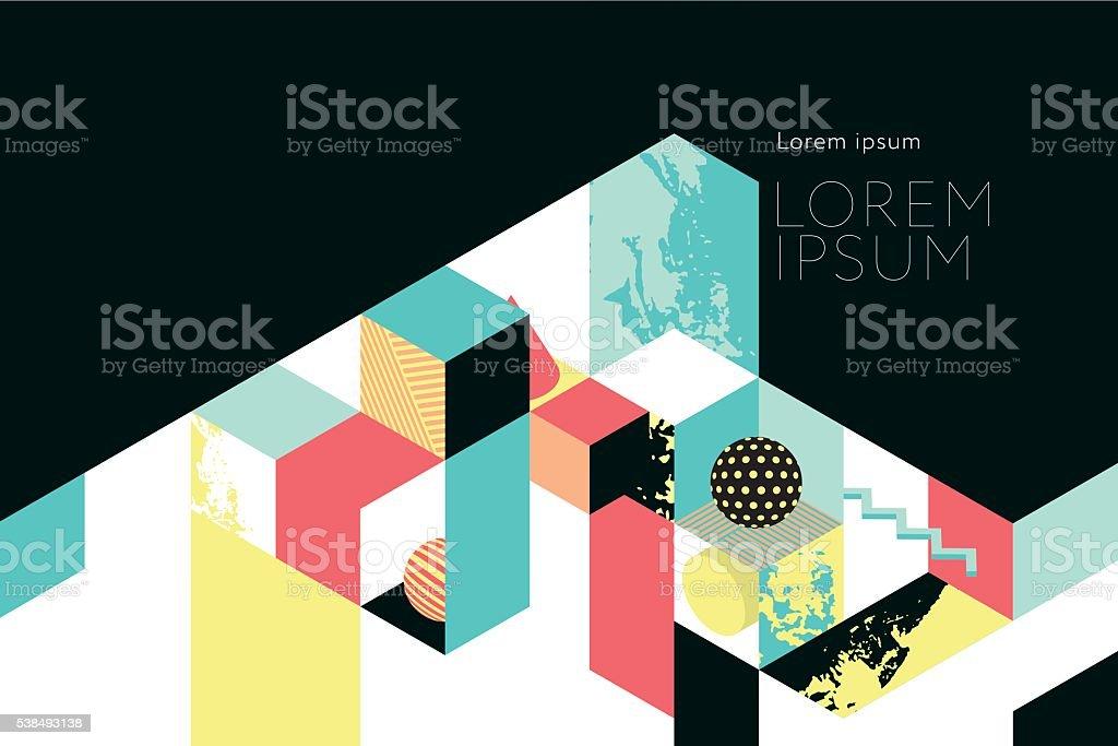 Template for book cover, calendar, brochures, poster, booklet vector art illustration