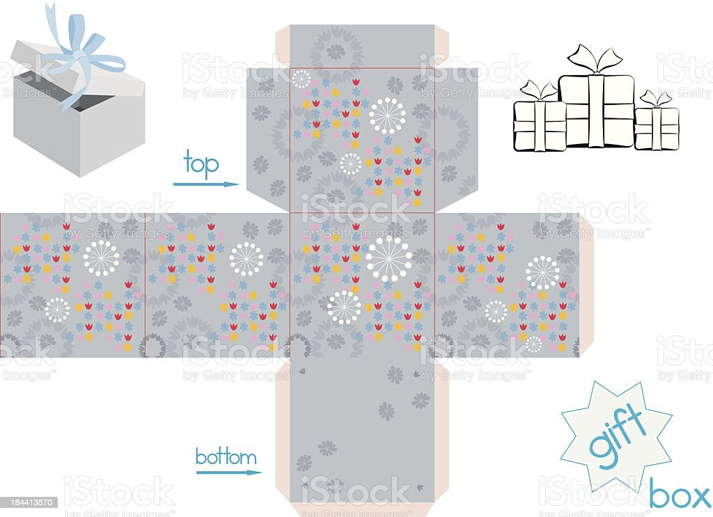 Template for cube gift box royalty-free stock vector art