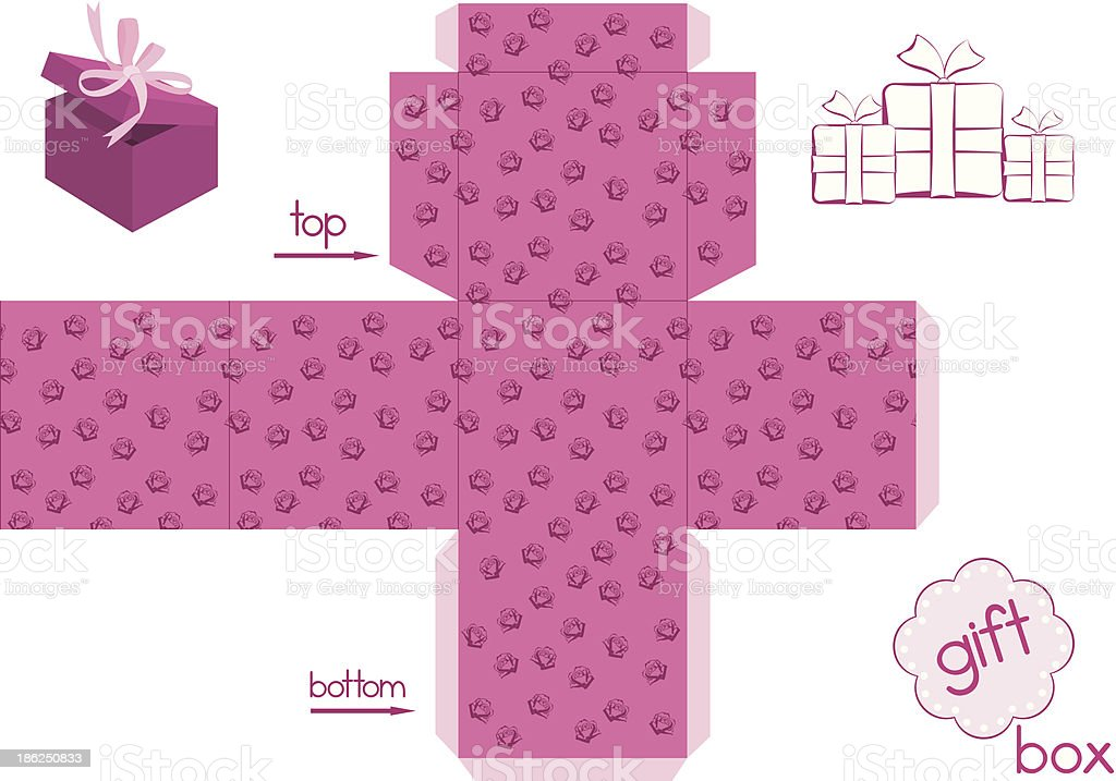 Template for elegant gift box royalty-free stock vector art