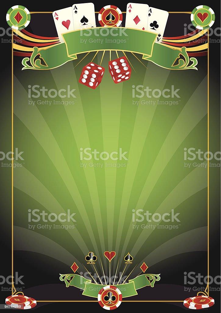 A template for Las Vegas gambling poster vector art illustration