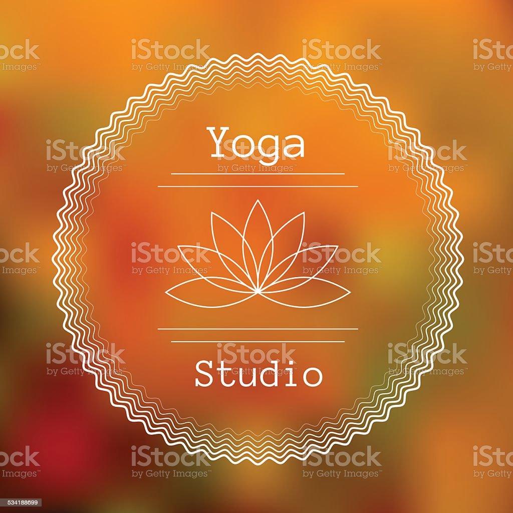 Template for logo of yoga studio vector art illustration