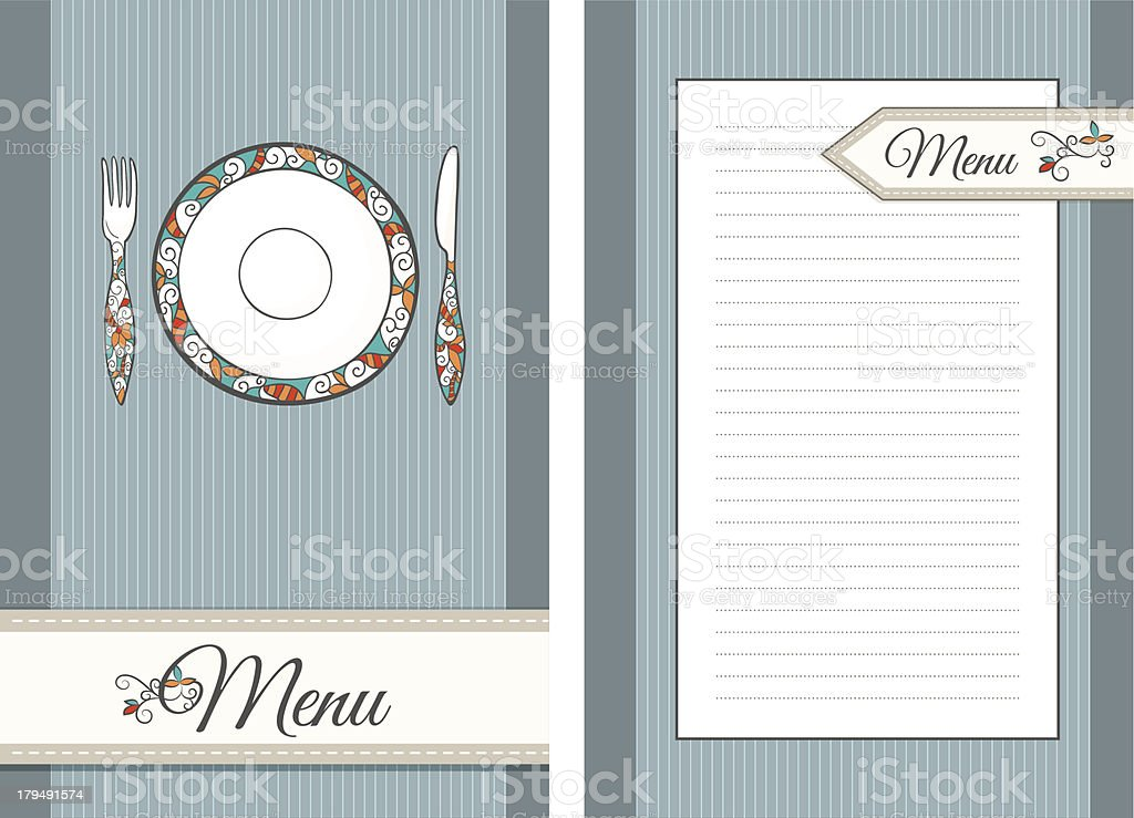 Template for Menu royalty-free stock vector art