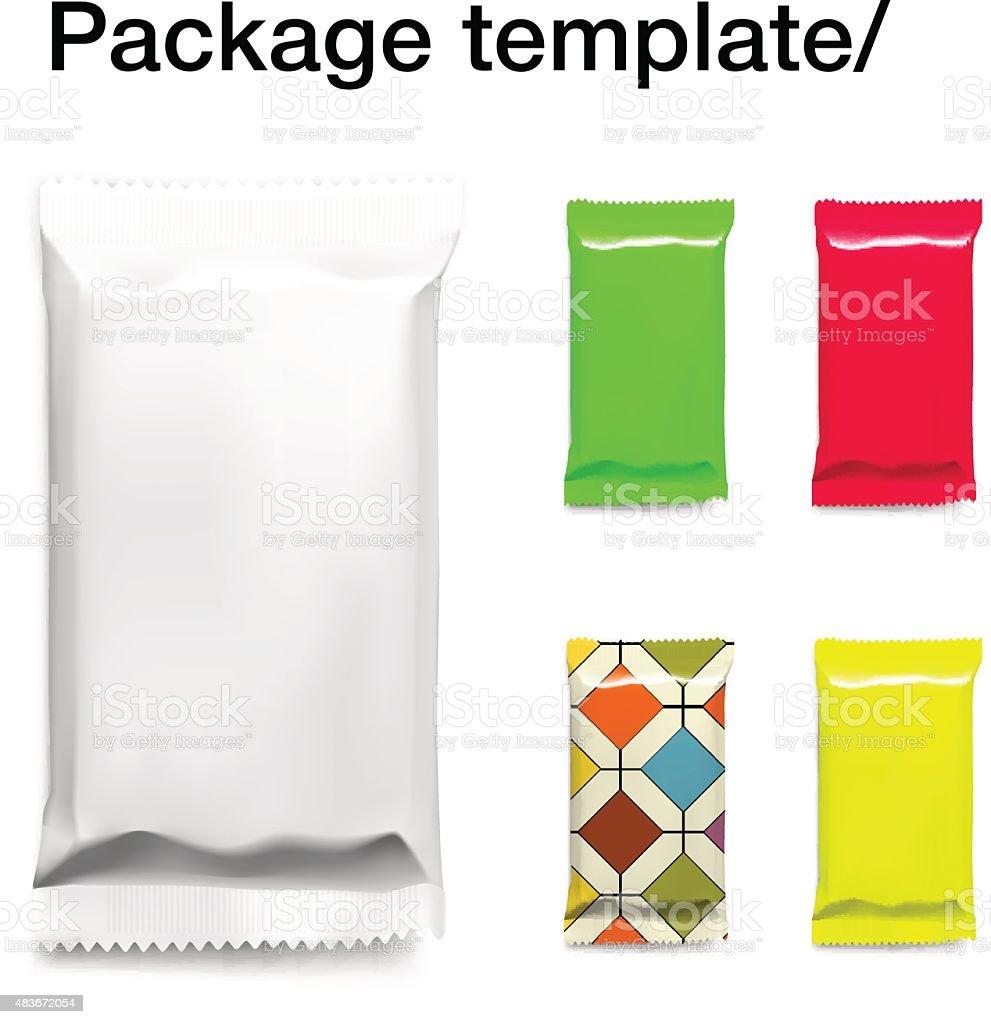 Template for packaging isolated on white background. Vector illustration vector art illustration