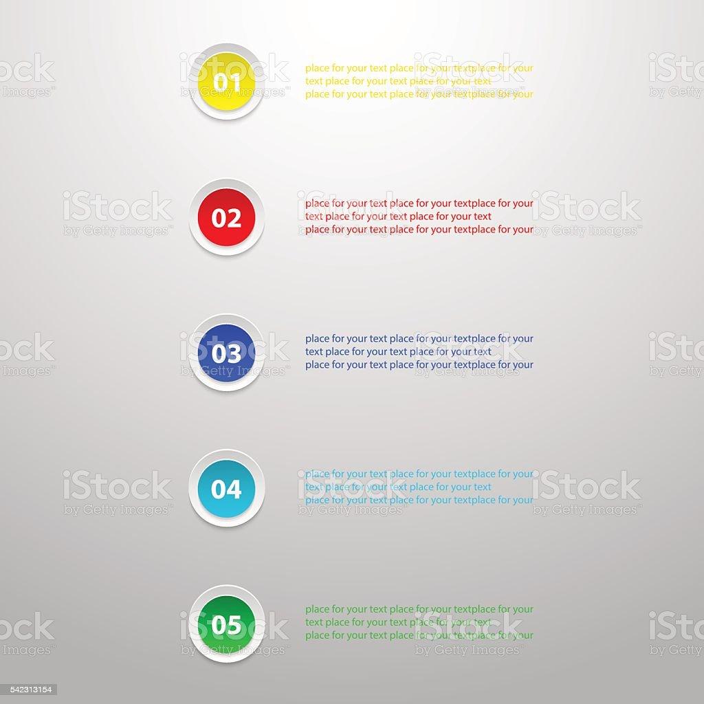 Template for presentation vector art illustration