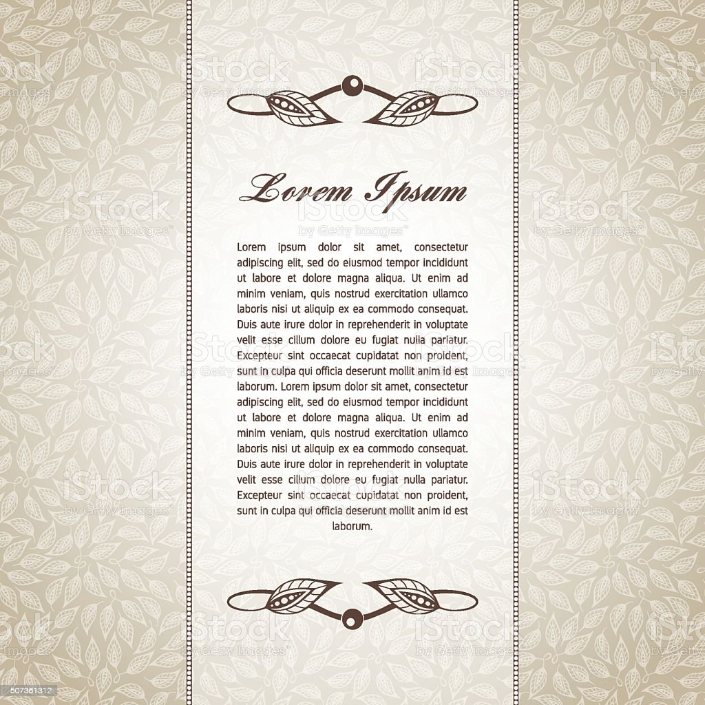 Template for text vector art illustration
