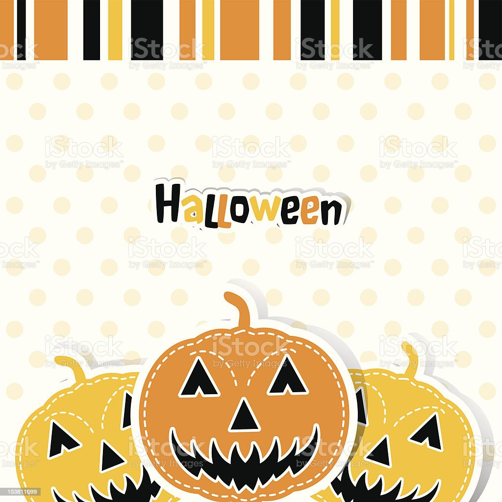Template Halloween greeting card royalty-free stock vector art