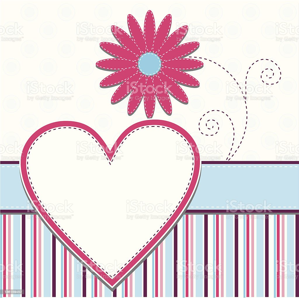 Template heart greeting card royalty-free stock vector art