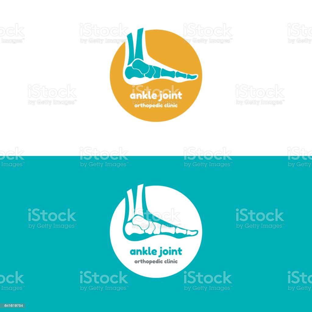 Template logo for ankle joint vector art illustration