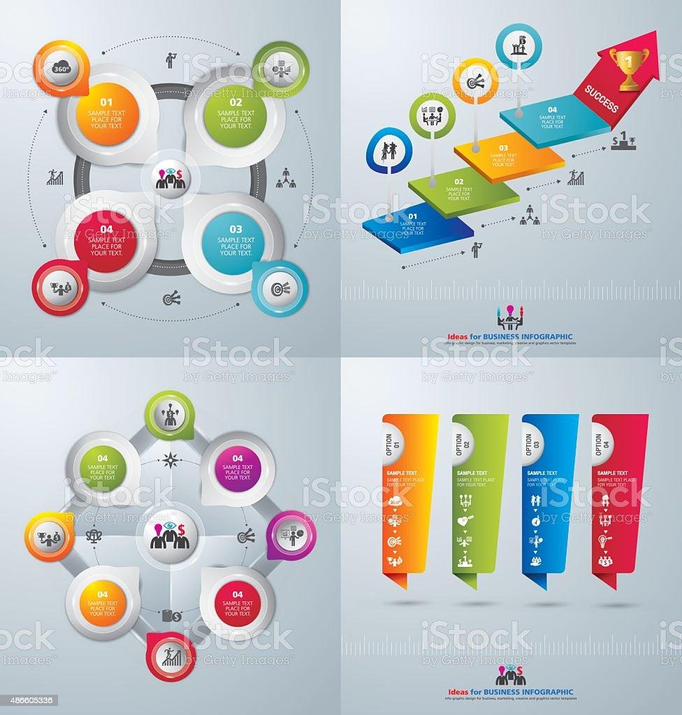 Template modern info graphic design for business vector art illustration