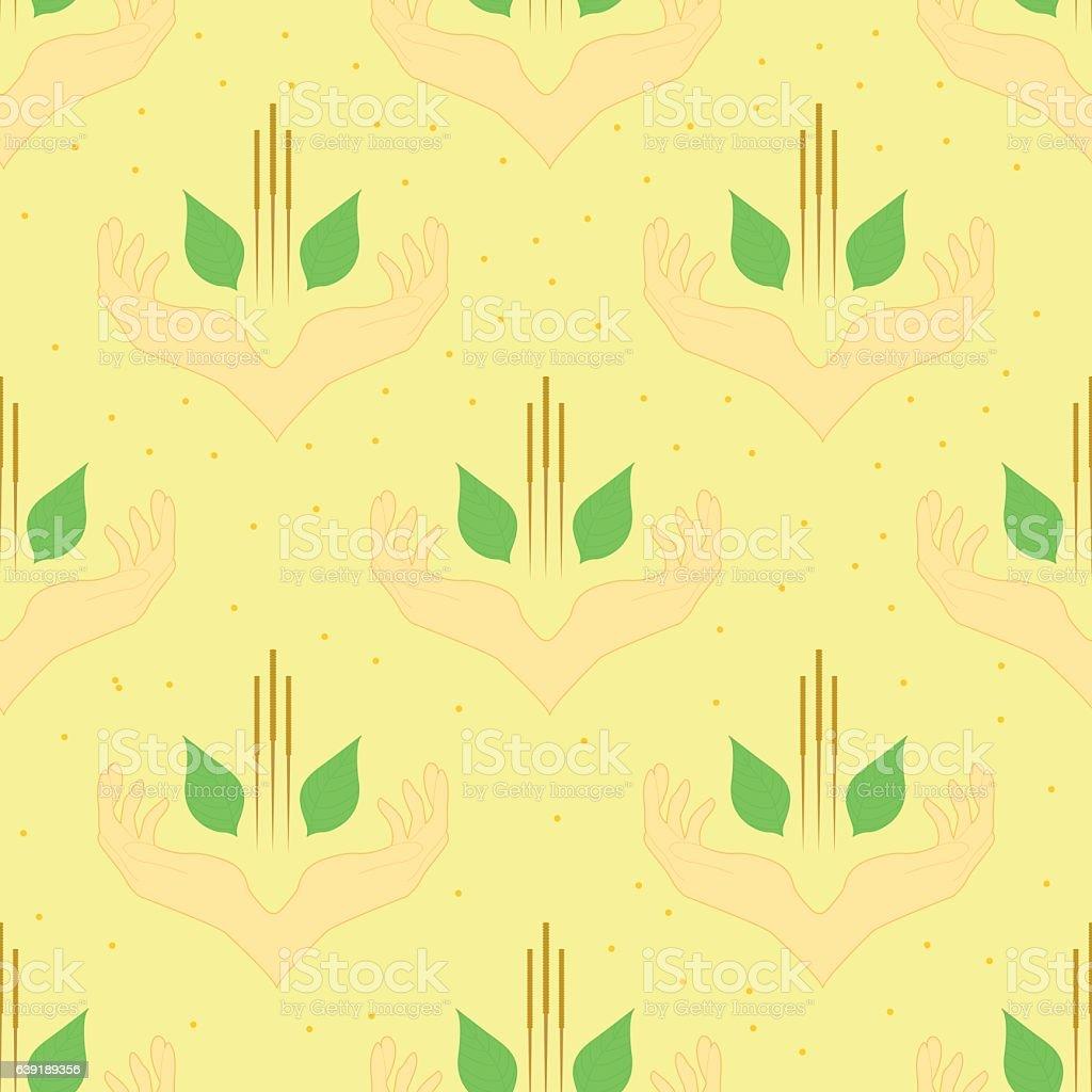template of acupunture theme, diagonal seamless vector art illustration