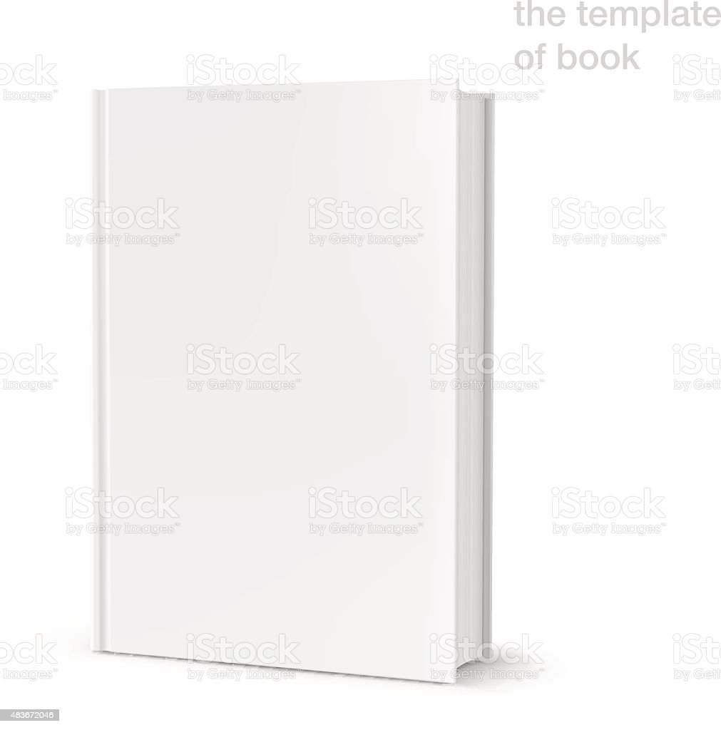 Template of blank cover book on white background. Vector illustration vector art illustration