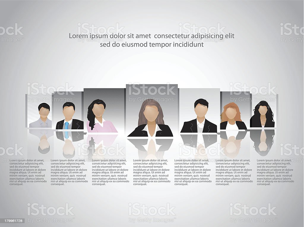 Template of business and office people. Vector illustration. royalty-free stock vector art