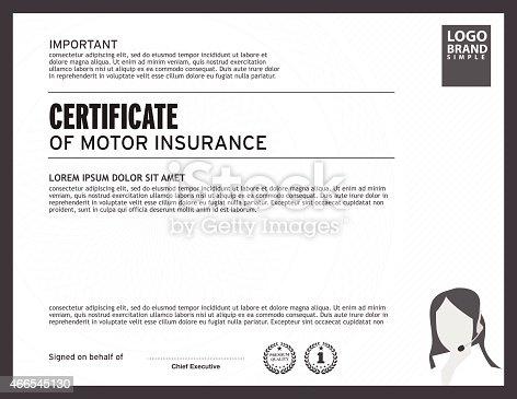 Certificate Of Insurance Template Certificate Of Insurance Template
