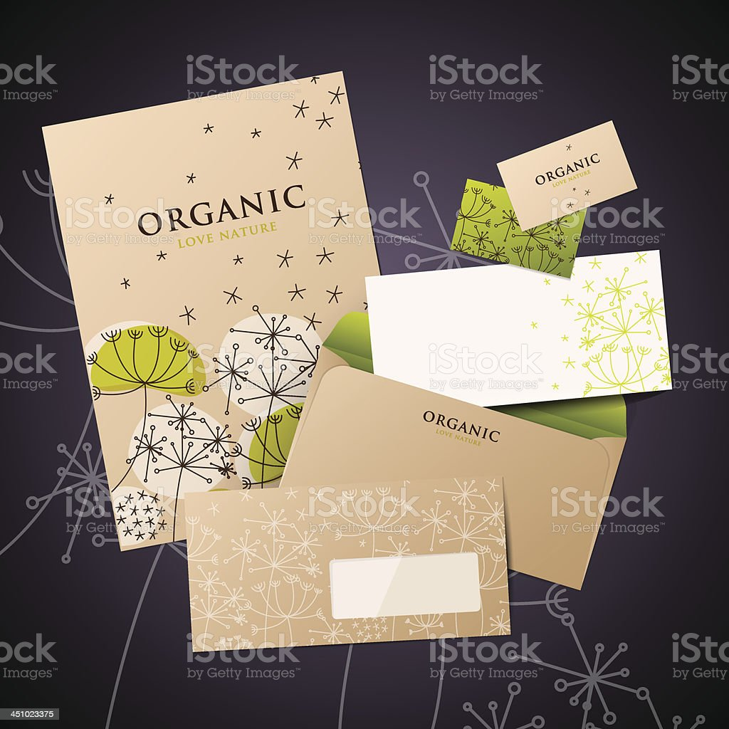 Template of corporate identity style royalty-free stock vector art