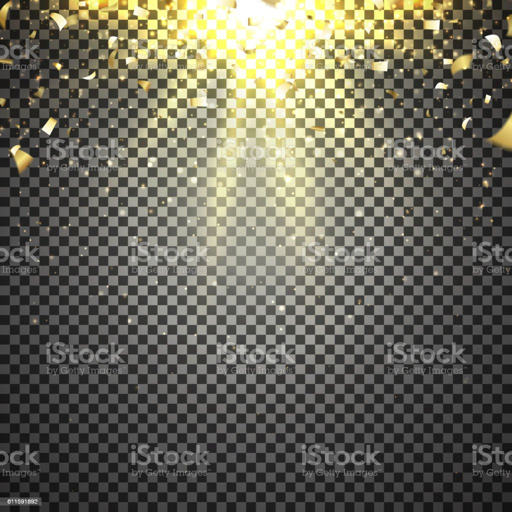 Template of golden confetti royalty-free stock vector art