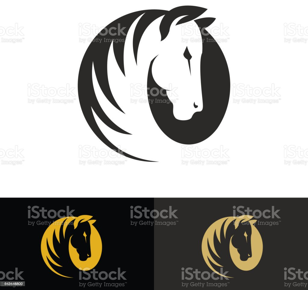 Template of the logo with horse. vector art illustration