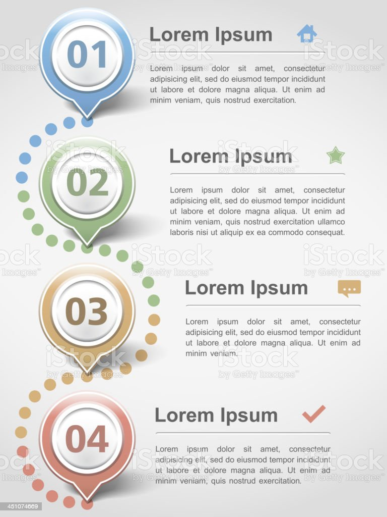 A template showing the design of info graphics royalty-free stock vector art