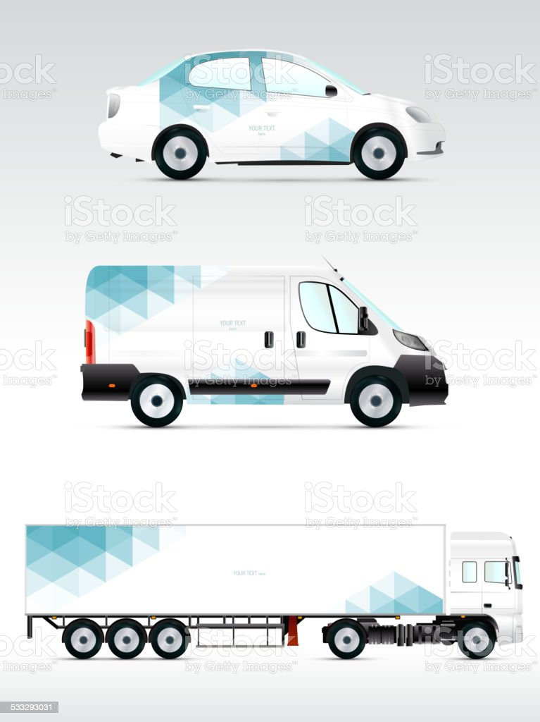 Template vehicle for advertising, branding or corporate identity. vector art illustration