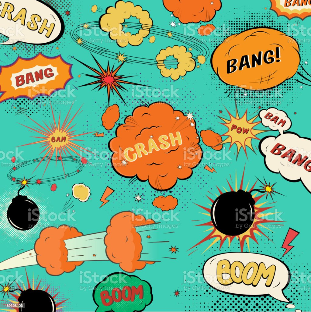 Template vintage comic speech bubbles/ design of soft a halftone vector art illustration