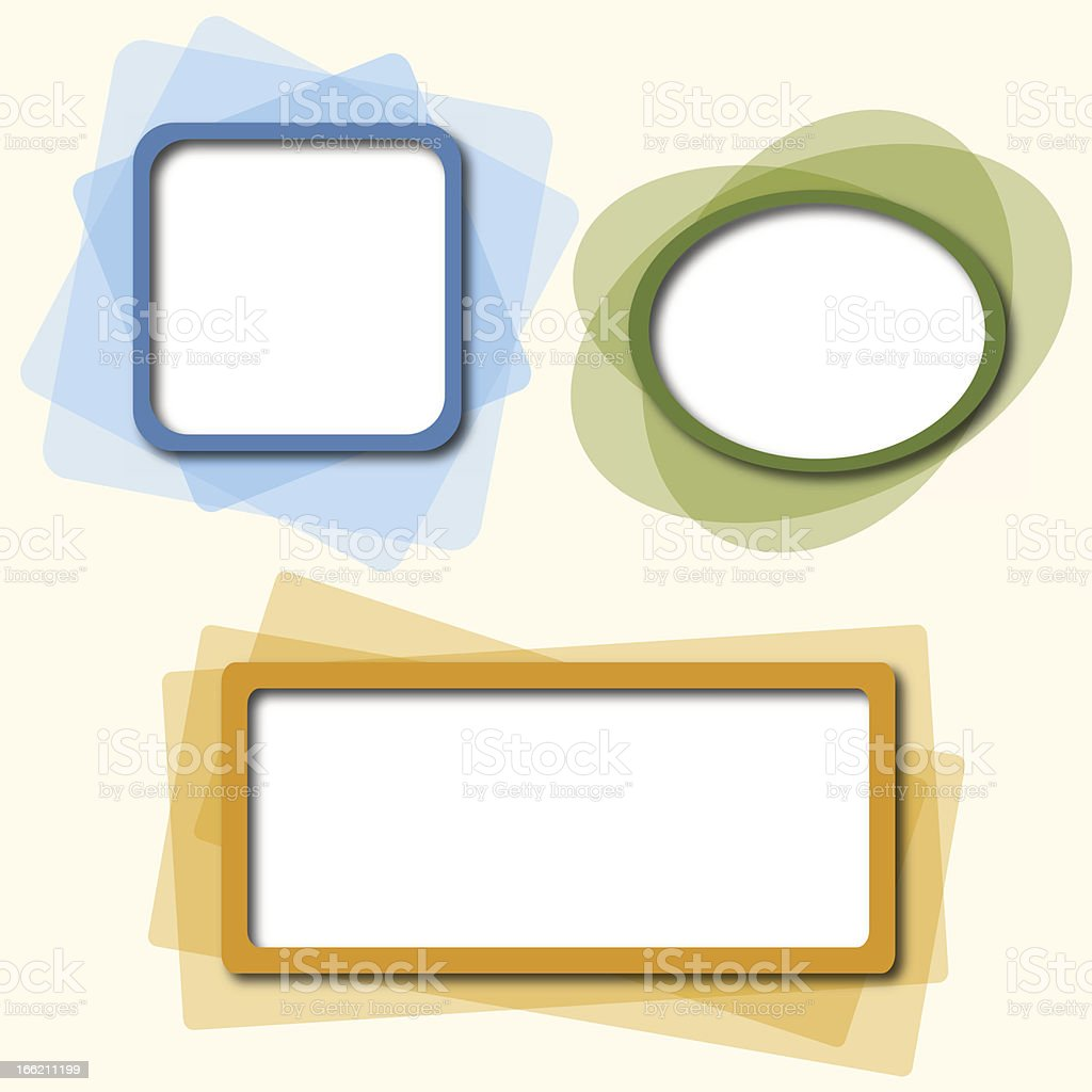Templates for a text royalty-free stock vector art