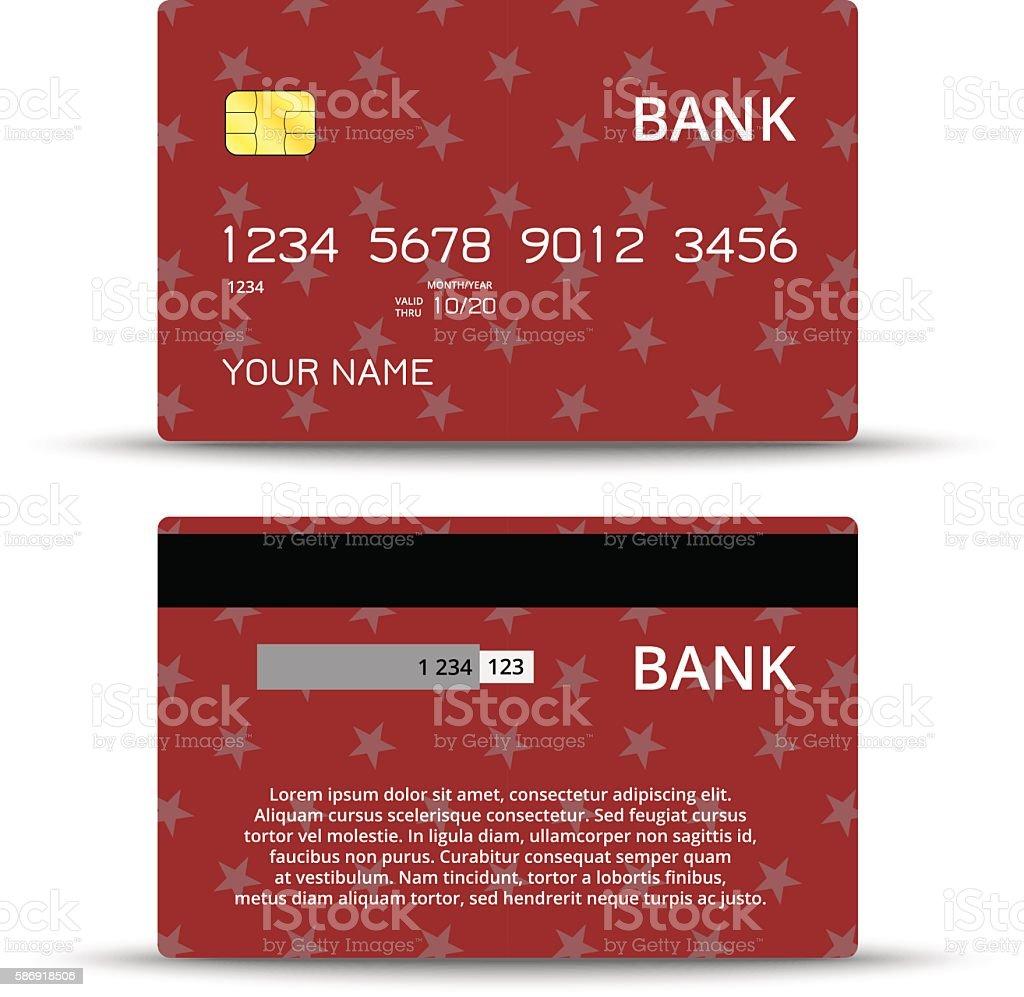 Vorlagen Von Kreditkartendesign Vektor Illustration 586918506 | iStock