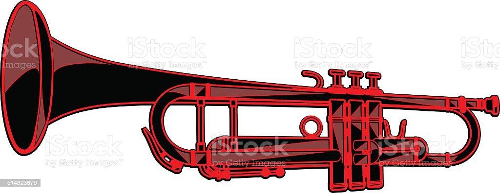 template-trumpet vector art illustration