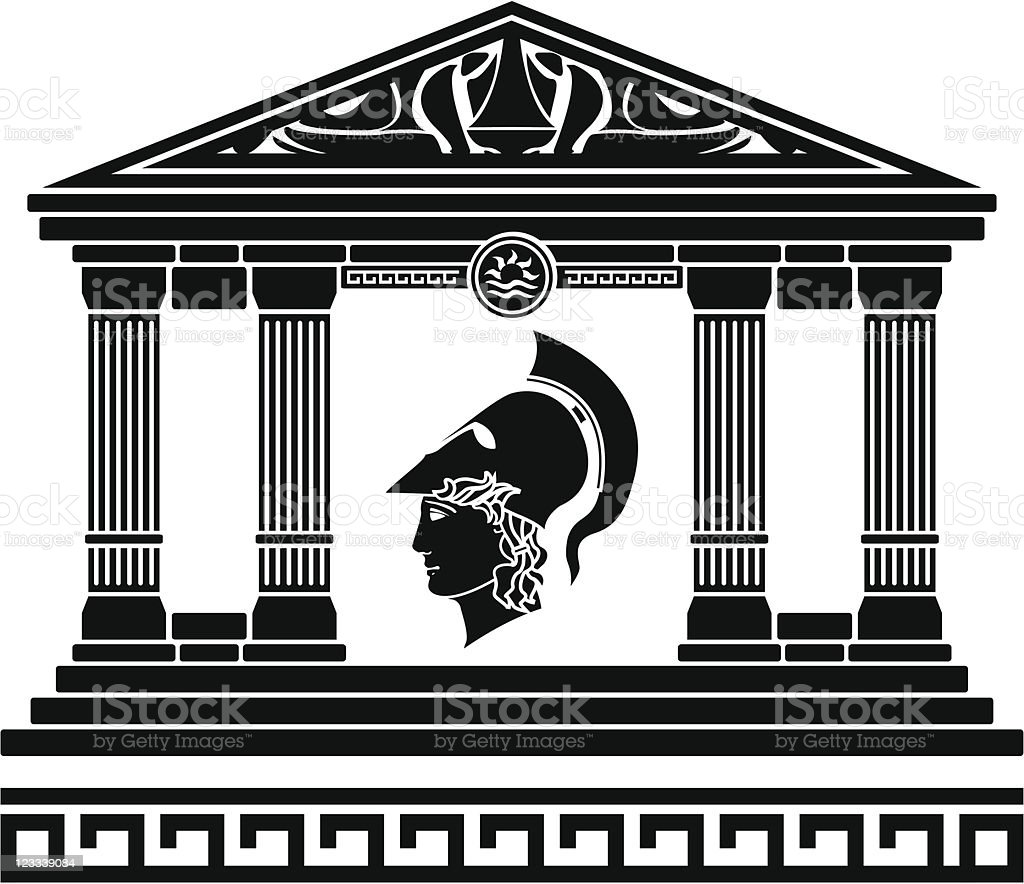 temple of alexander the great vector art illustration