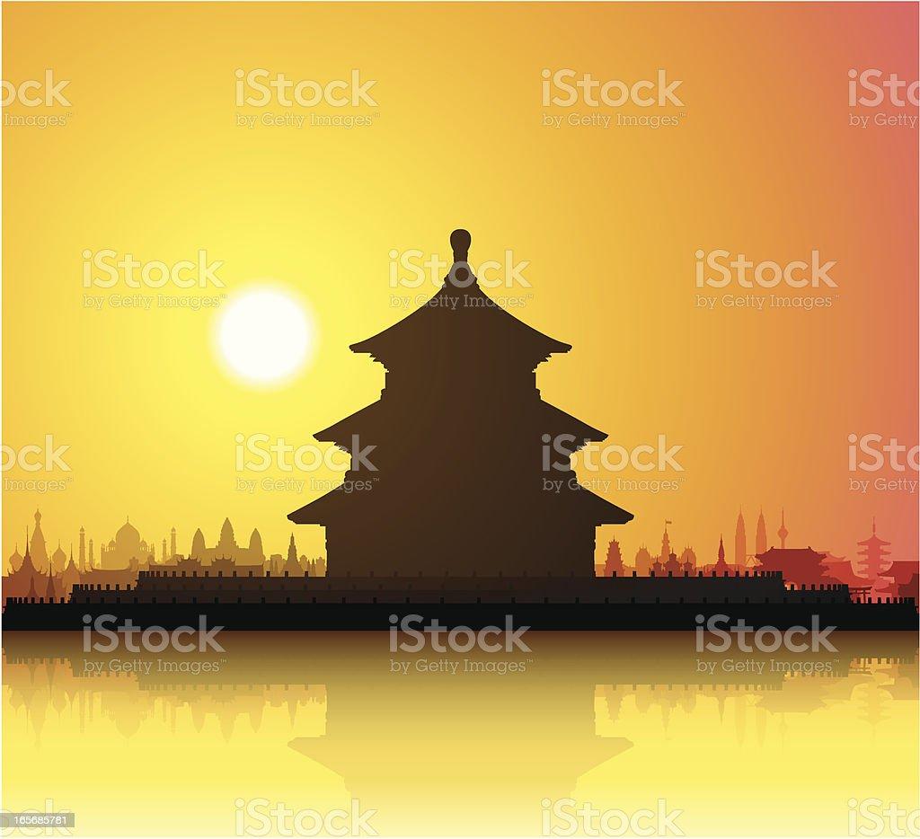 Temple of Heaven (China) vector art illustration