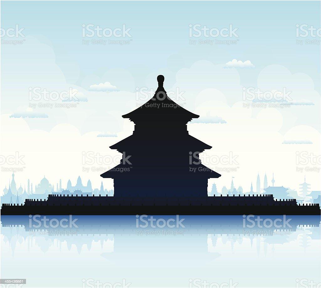 Temple of Heaven (Beijing) vector art illustration