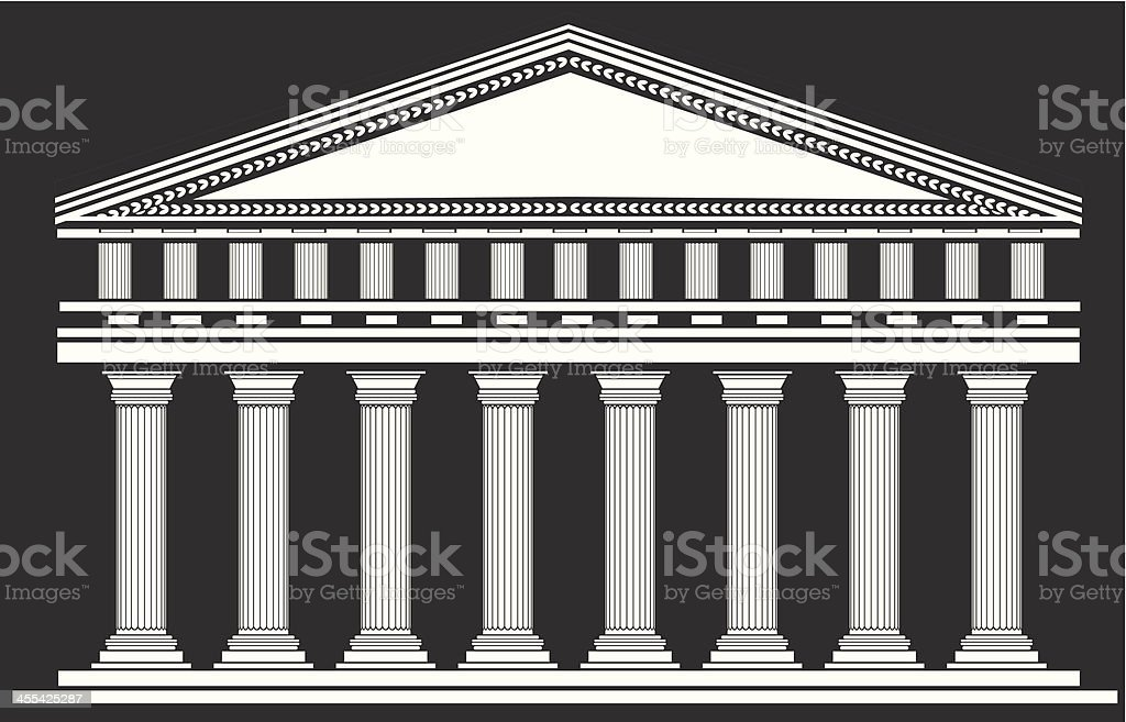 Temple royalty-free stock vector art