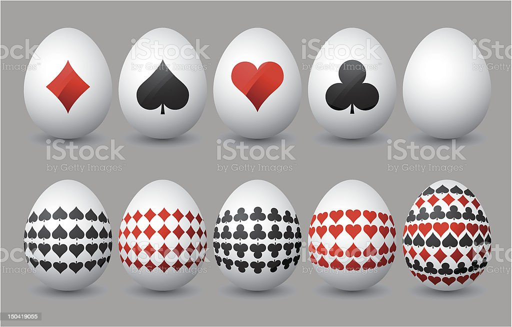 Ten easter eggs royalty-free stock vector art