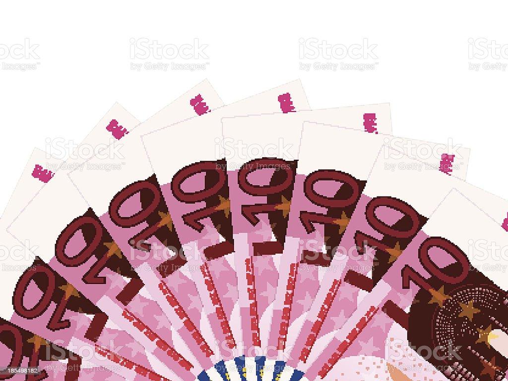 ten euro banknotes royalty-free stock vector art