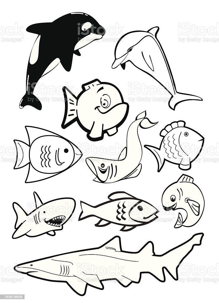 Ten Fish royalty-free stock vector art