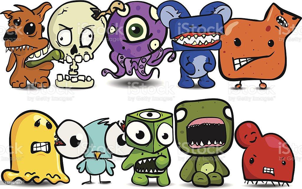 Ten Little Monsters stock photo