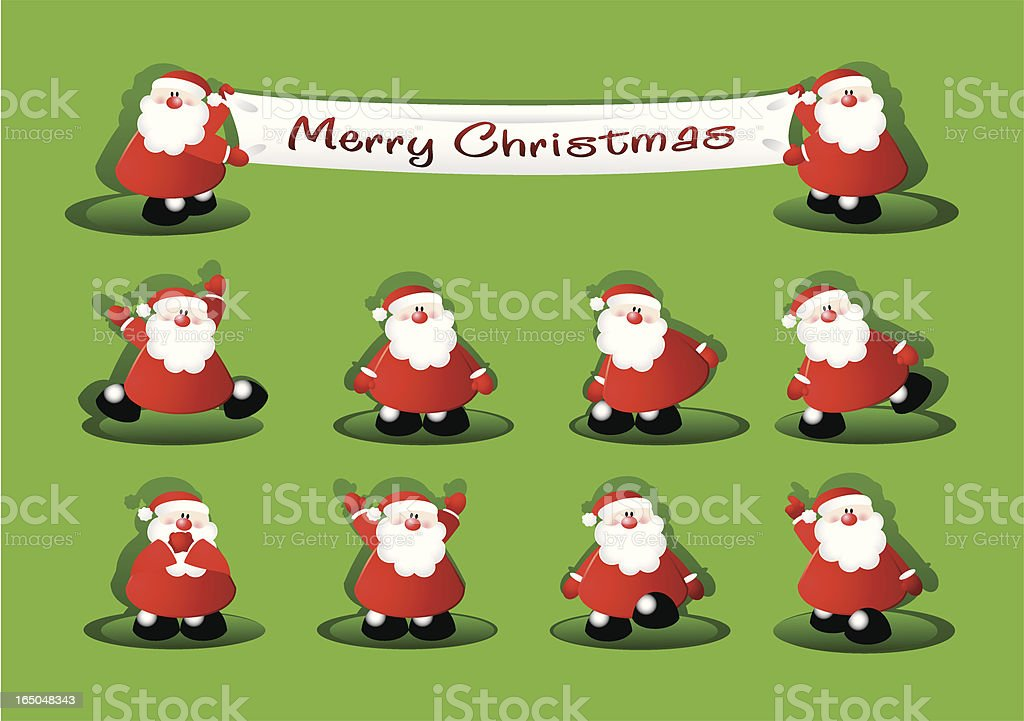 Ten little Santa's royalty-free stock vector art