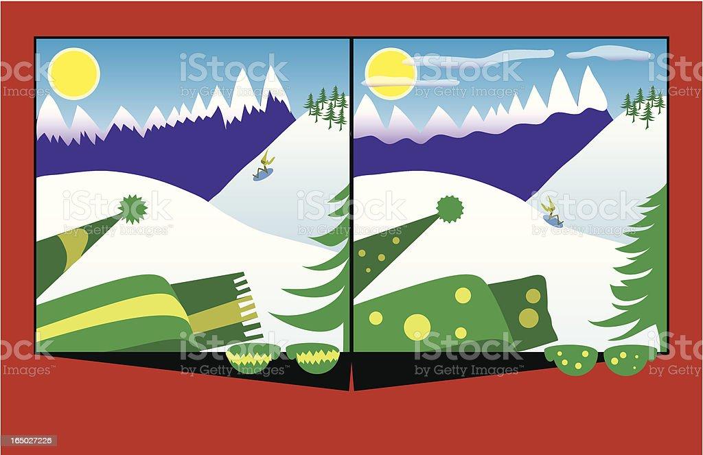 Ten Things: Winter Scene royalty-free stock vector art