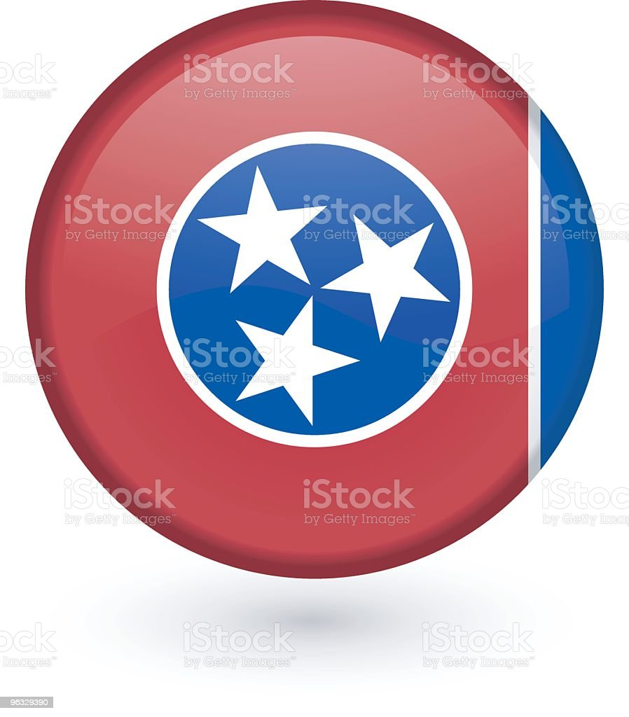 Tennessee flag button royalty-free stock vector art