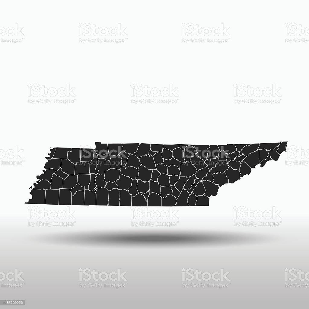 Tennessee Map vector art illustration