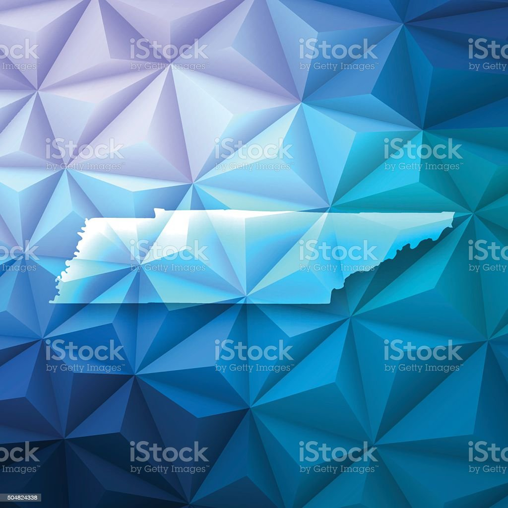 Tennessee on Abstract Polygonal Background - Low Poly, Geometric vector art illustration