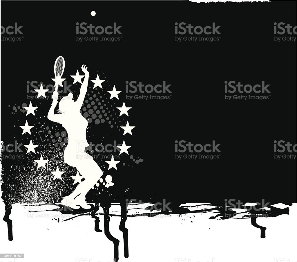 Tennis All-Star Background - Female royalty-free stock vector art