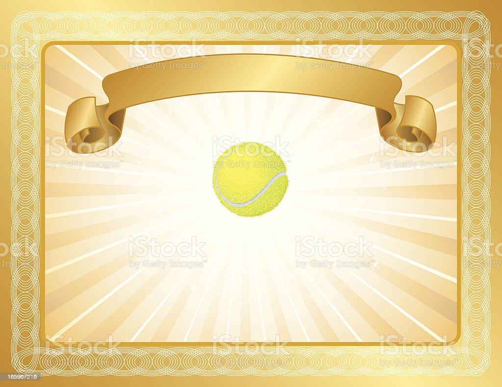Tennis Award Certificate royalty-free stock vector art