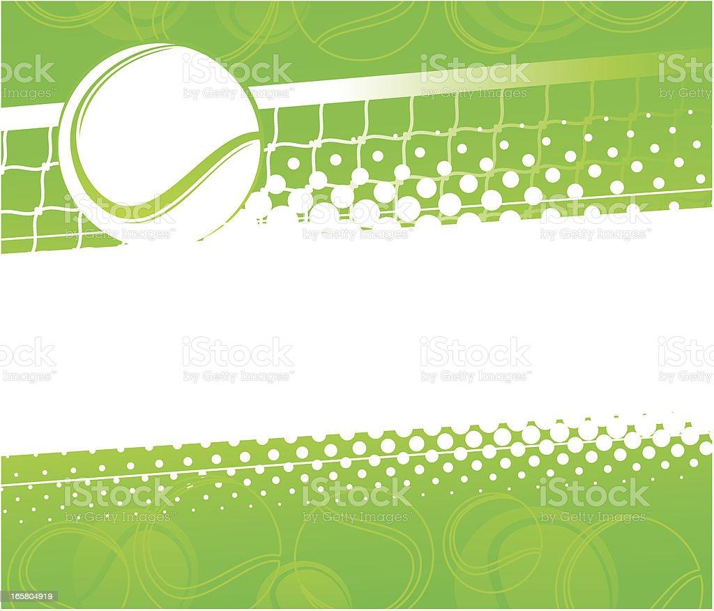 Tennis background vector art illustration