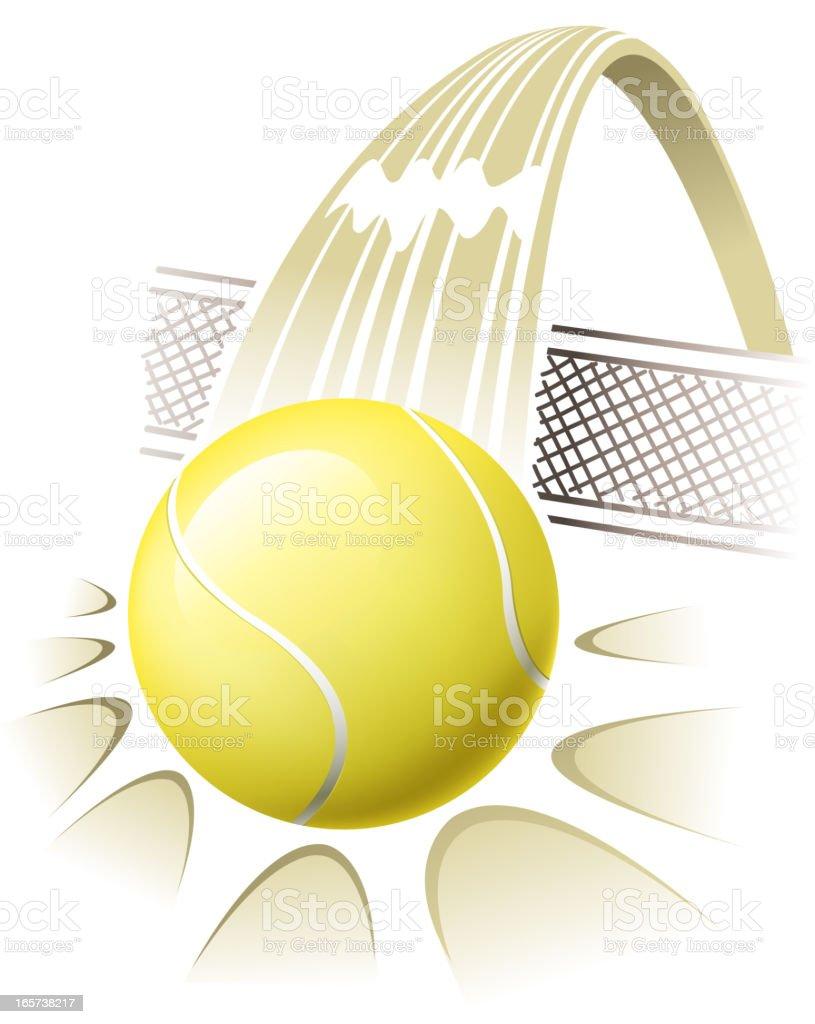 tennis ball action royalty-free stock vector art