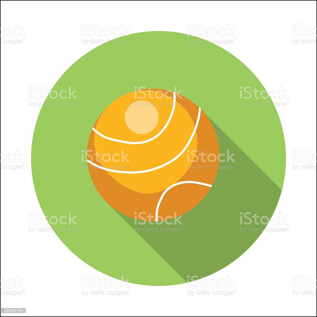 Tennis ball flat icon vector art illustration