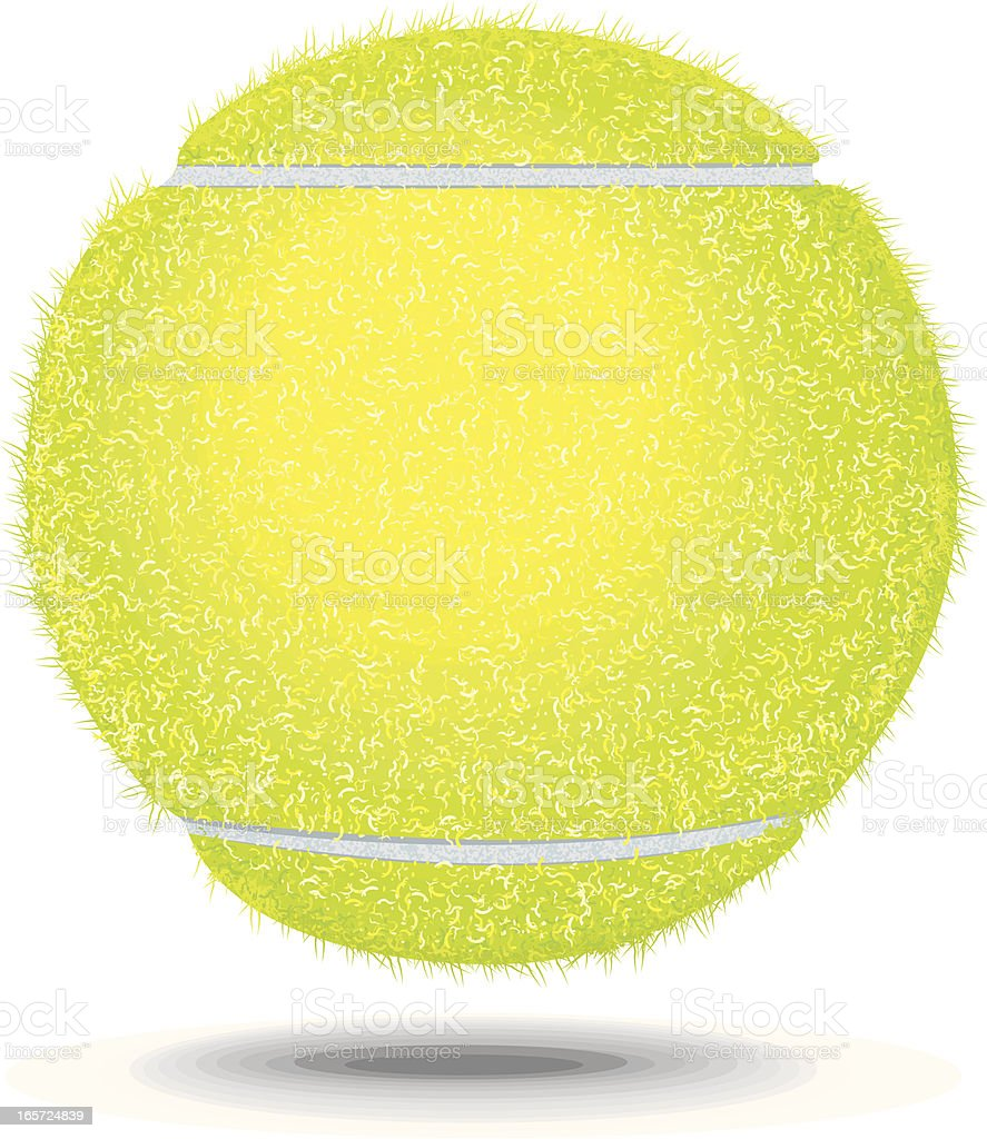 Tennis Ball Floating vector art illustration