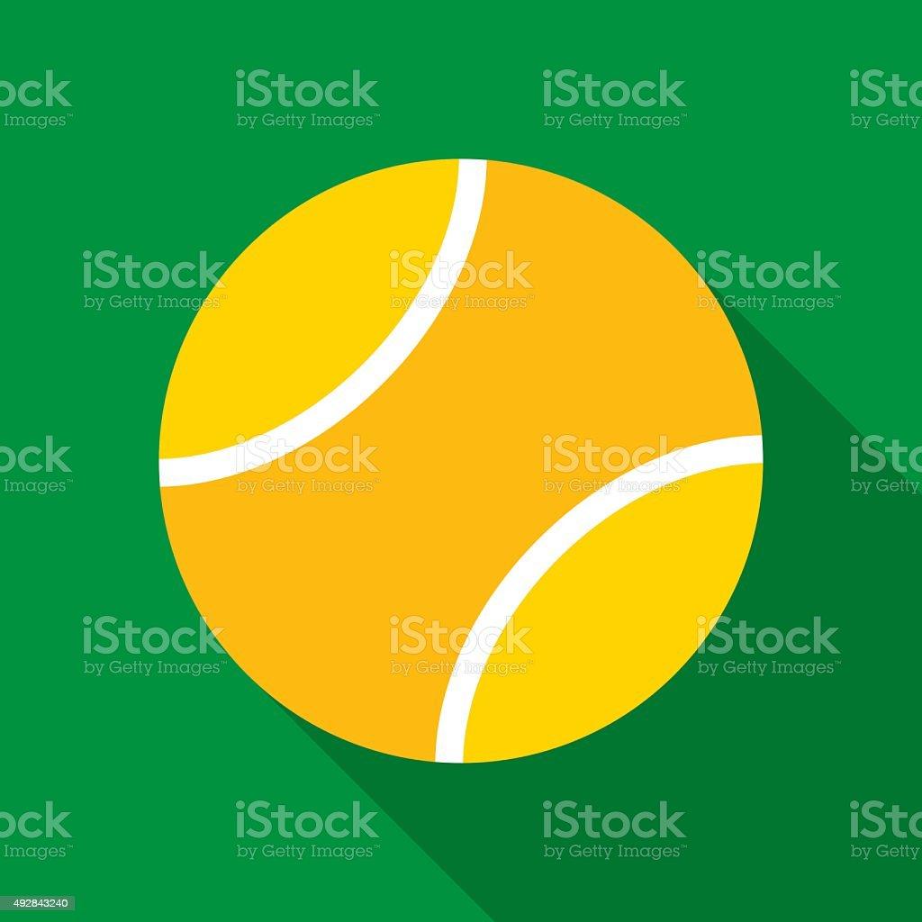 Tennis Ball in Flat Style vector art illustration