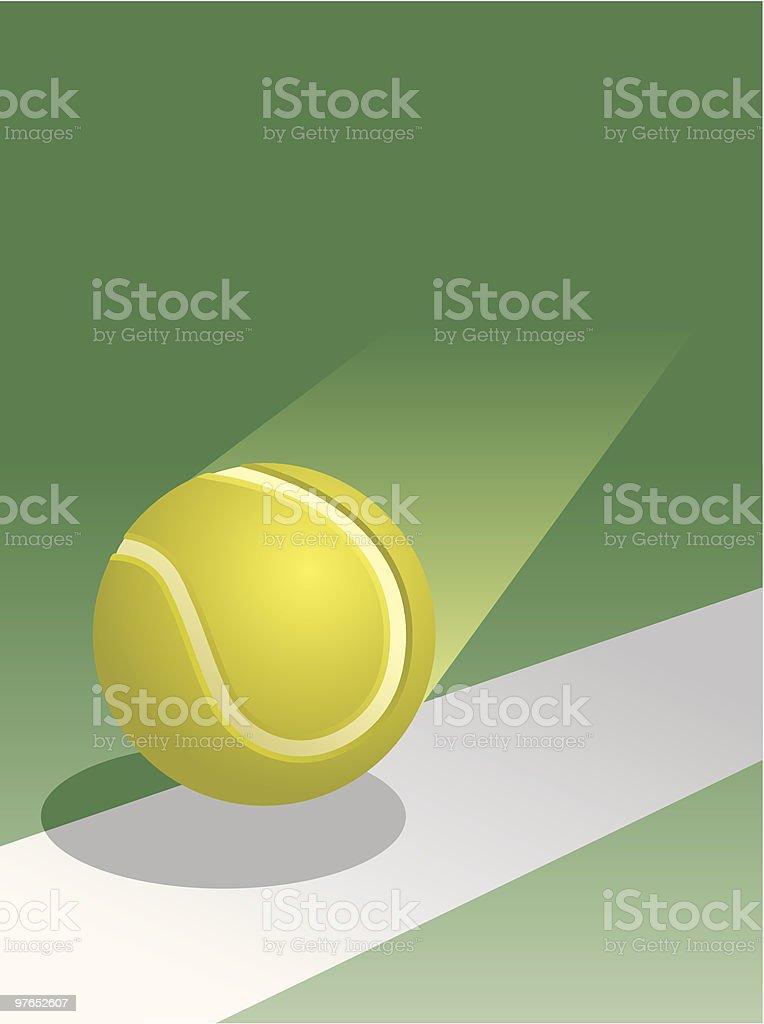 Tennis Ball in Flight vector art illustration
