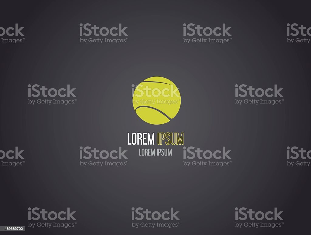 Tennis ball logotype. Logo design. vector art illustration